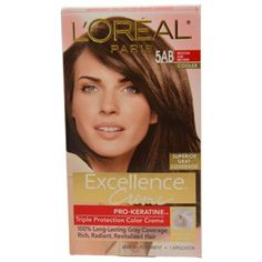 L'Oreal Paris Excellence Creme, Triple Protection Color Crème , Mocha Ash Brown 5AB -- The best do-it-yourself  chocolate brown I've found!