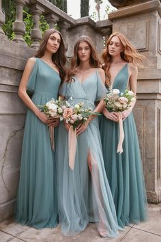 Sleek satin romantic florals and modern silhouettes- these are the styles your bridesmaid want to wear in Printed Bridesmaid Dresses, Mismatched Bridesmaid Dresses, Green Bridesmaid Dresses, Burgundy Bridesmaid, Prom Dresses, Formal Dresses, Stunning Wedding Dresses, Princess Wedding Dresses, Wedding Dress Styles