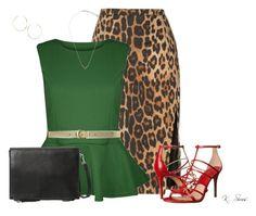 """Leopard is always fun"" by ksims-1 ❤ liked on Polyvore featuring Altuzarra, Ralph Lauren, Michael Kors, MANGO, Topshop, Lana, women's clothing, women, female and woman"