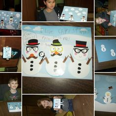 Snowman make and take craft from January