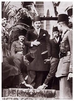 H.M. King Farouk of Egypt at His Arrival At The Mosque Of Kekhia In Cairo - 14th December, 1937