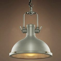 Industrial Bowl Shaped 1 Light Pendant in Polished Nickel - Beautifulhalo.com