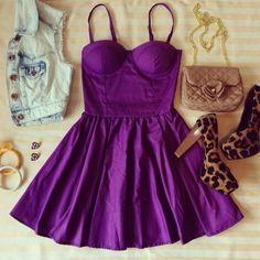 Purple Bustier Dress – Sassitude