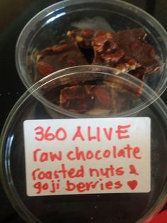 Organic Raw Chocolate 360 Alive style ;) Raw Cacao Raw Local Honey Raw Cold Pressed Coconut Oil Activated Nuts Goji Berries Local Honey, Raw Chocolate, Raw Cacao, Coconut Oil, Roast, Berries, Organic, Cold, Style