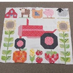 Sylvester Stallone's Life Story - Quilt Decor Looky at this adorable little Farm Girl Vintage quilt! It's made by Susan Beall 2019 Looky at Quilt Baby, Boy Quilts, Girls Quilts, Rag Quilt, Small Quilts, Mini Quilts, Quilting Projects, Quilting Designs, Quilting Ideas