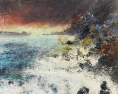"""painting by Nikki Rose """"Out Running the Storm"""" 74 x 60 cm oil and sand on canvas."""