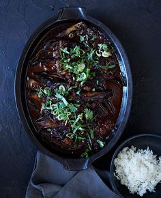 Sichuan Braised Eggplant (Gourmet Magazine).  (Atkins.)