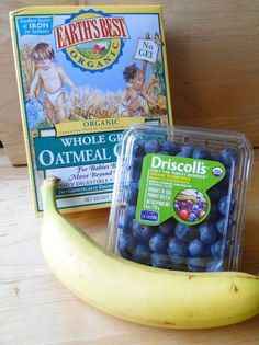 Roasted blueberry banana and oatmeal baby food