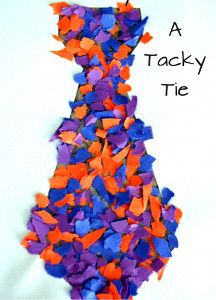 Toddlers can easily make this Toddler Tie for Daddy this June. Father's Day crafts for kids mean the world to dads!