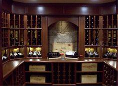 custom wine room in Walpole, Ma