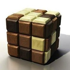 Rubik chocolate