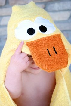 Duck Hooded Towel Tutorial - Crazy Little Projects