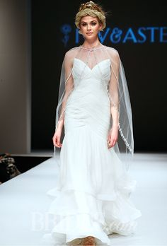 Brides.com: Plus-Size Wedding Dress Trends from Fall 2015 Bridal Runways Trend: Capes