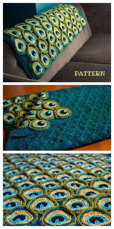 Hairpin Lace Crochet, Crochet Lace Edging, Cute Crochet, Easter Crochet Patterns, Loom Patterns, Crochet Blanket Patterns, Crochet Blankets, Peacock Crochet, Peacock Pattern