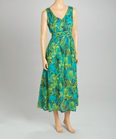 Another great find on #zulily! Jade Leaf Sleeveless Dress - Women by Jane Ashley #zulilyfinds