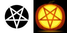 Pentagram Pumpkin Stencil