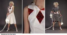 'Element-ary' is the name of the solar fashion collection from Tine Hertz which is inspired from her study of Architecture and her interest into the relation between the human body, the space and the architecture that surrounds us.
