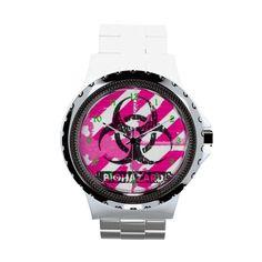 Pink Biohazard Goth Lolita Watch by Gothic Toggs