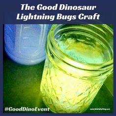 The Good Dinosaur Lightning Bugs Craft #GoodDinoEvent