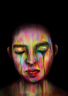 CoLoR - Portrait by SKIPMYHUI , via Behance