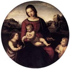 Raphaël, Madonna Terranuova, c. 1505-10. Berlin, Gemäldegalerie.