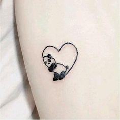 Kleines Herz Tattoo Design – Nettes Herz mit Panda Tiny Heart Tattoo Design – Cute Heart with Panda Henna Tattoo Designs Simple, Heart Tattoo Designs, Tattoo Designs For Women, Tattoos For Women Small, Tattoo Simple, Mehndi Designs, Small Henna Designs, Cute Simple Tattoos, Heart Designs