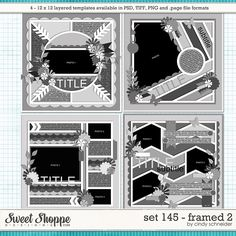 Cindy's Layered Templates - Set 145: Framed 2 by Cindy Schneider
