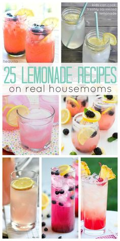25 Lemonade Recipes on Real Housemoms