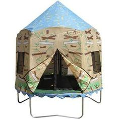 7.5' Trampoline Camo Cover. Shop now - FREE Shipping! #trampolinecover #trampolinecanopy #trampoline