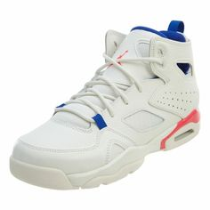 4a67d8aafb9da6 Jordan Flight Club  91 Big Kids 555472-125 Sail Racer Blue Pink Shoes Size