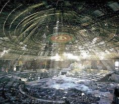 Buzludzha monument (Bulgaria) - The UFO-shaped headquarters of the Bulgarian Communist party was built in 1981 and abandoned since the fall of the Iron Curtain in 1989. - Want to discover more hidden gems in Europe? All of them can be found on www.mapiac.com