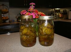 """Fire and Ice Pickles - perfect combo of SWEET and SPICY!  Best part: you don't need to know how to """"can"""" to make these!"""