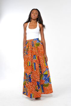 African Print  Chilolo Maxi Skirt by Bongolicious1 on Etsy, $59.99