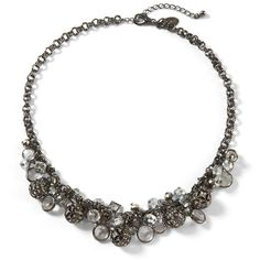 Hematite Fireball Bauble Necklace ($58) ❤ liked on Polyvore