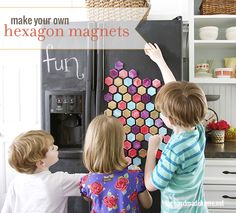 make your own hexagon magnets