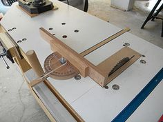DIY Circular Table Saw with Fence & Miter Gauge