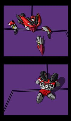 ♡ On Pinterest @ kitkatlovekesha ♡ ♡ Pin: TV Show ~ Transformers Prime ~ Knock Out Stuck in the Wall ♡