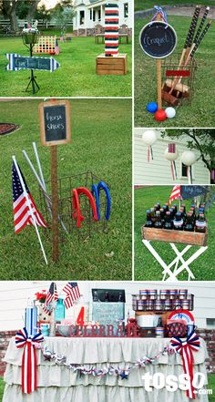 Learn how to custom paint your Giant Tumbling Tower for an Old Fashioned 4th of July lawn party! Easy Tutorial!