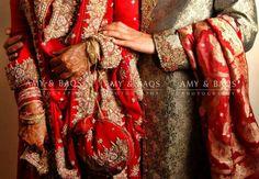 Pakistani Bride And Groom ♡ ❤ ♡ Pakistani Wedding Dress, Pakistani Style. Follow me here MrZeshan Sadiq   Follow them on Facebook : https://m.facebook.com/AmyandBaqs