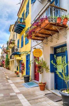 """Amymone"" Pension is a charming hotel in Nafplion, Greece Beautiful Places To Visit, Oh The Places You'll Go, Wonderful Places, Beautiful World, Places To Travel, Travel Destinations, Greek Isles, Greece Islands, Greece Travel"