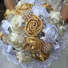 "esküvői virágok csokrok esküvői selyem 9.84 ""(kb.25cm) esküvői kellékek 6361000 2017 – €22.13"