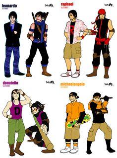 Teenage mutant ninja humans
