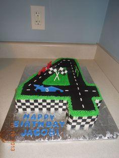 race car birthday cake 4