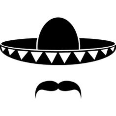Sombrero with a beard from mexico art prints by muli redbubble cliparts Mexican Shirts, Mexican Hat, Cactus Silhouette, Fiesta Theme Party, Taco Party, Cactus Tattoo, Mexican Heritage, Mexico Art, Black And White Drawing