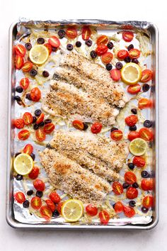 Mediterranean Baked Trout with Olives, Fennel & Tomatoes