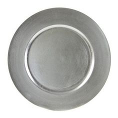 Round Charger Plate in Silver Finish - Set of 6  #10StrawberryStreet #Charger #Finish #Plate #Round #Silver cookwareview.com