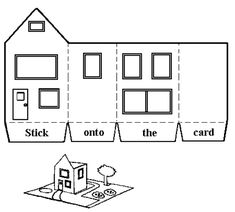 Wise and foolish men: My house is built on the word of God craft. Includes template for house.