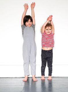 Kidscase Wave T-shirt £24.95, Gray Label Salopettes £37.95, Kidscase gathered T-shirt £24.95, Papu Dot leggings £24.95. (Free P&P over £30.)