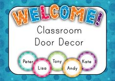 FREE Classroom Door Decor - Back to School  - Looking for something spotty to decorate your classroom door? Well... this may be the very thing you were looking for!