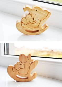 Puzzle Toy - Wooden Puzzle elephant - Educational toys - Wooden Swing - Kids gifts - Animal puzzle - elephant Family #woodentoy #puzzle #elephant